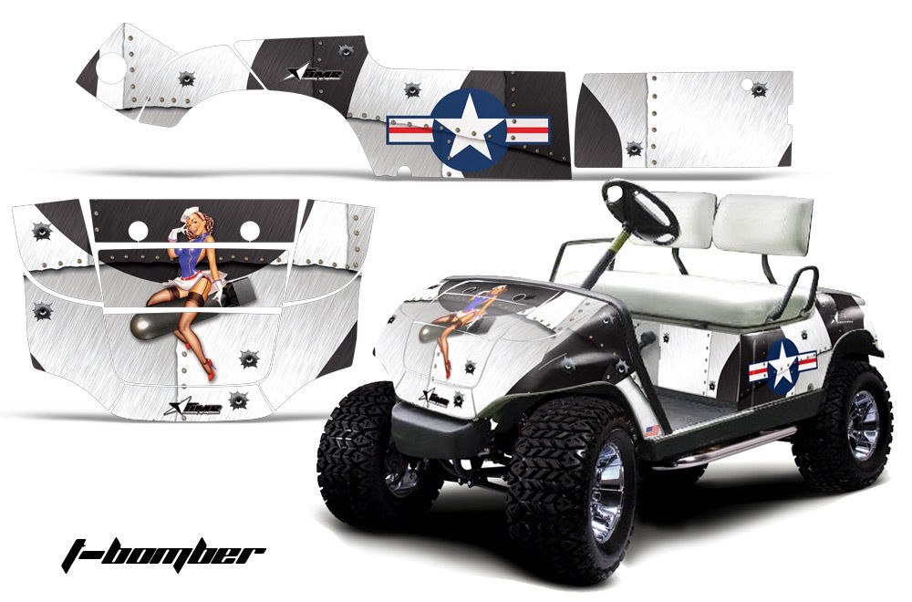 Designer Graphic Wraps by Golf Cart Names on custom golf cart body wraps, yamaha golf cart graphic wraps, golf cart graphic kits,